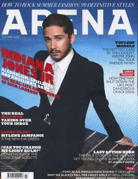 Shia LaBeouf - Arena Magazine [United Kingdom] (July 2008)
