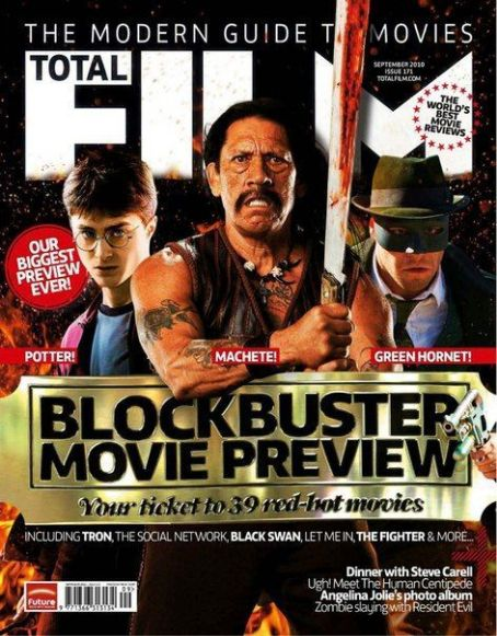 Daniel Radcliffe, Danny Trejo - Total Film Magazine Cover [United States] (September 2010)