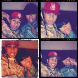 Blac Chyna Tyga and  having fun
