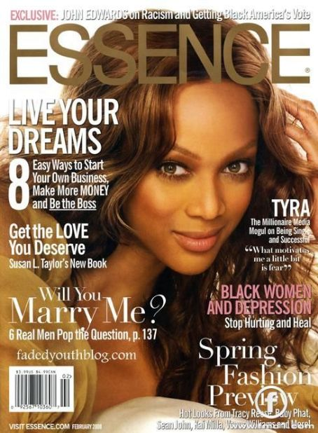Tyra Banks - Essence Magazine [United States] (February 2008)