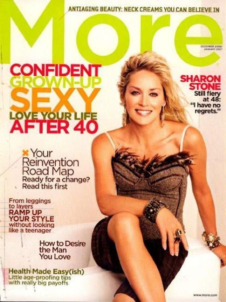 Sharon Stone - More Magazine [United States] (December 2006)