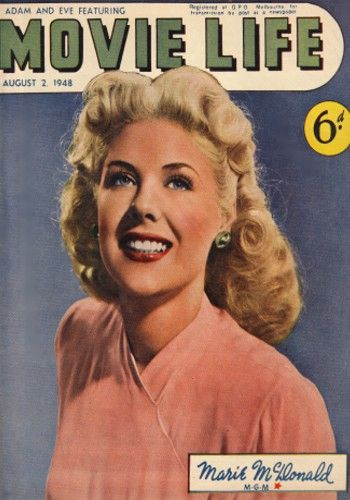 Marie McDonald - Movie Life Magazine [Australia] (2 August 1948)