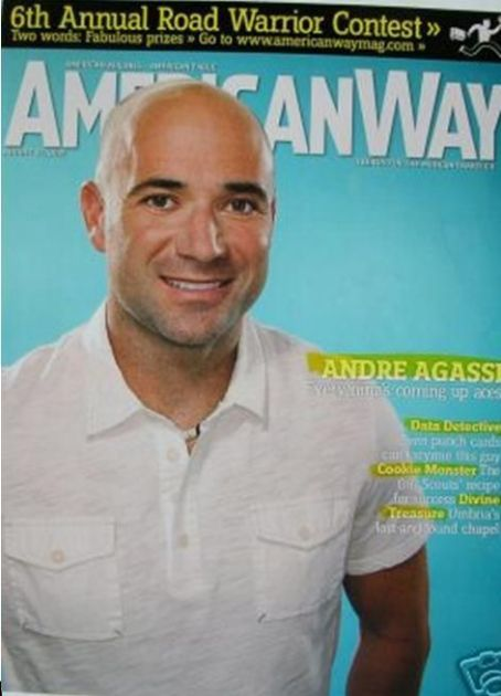 Andre Agassi - American Way Magazine [United States] (15 August 2007)