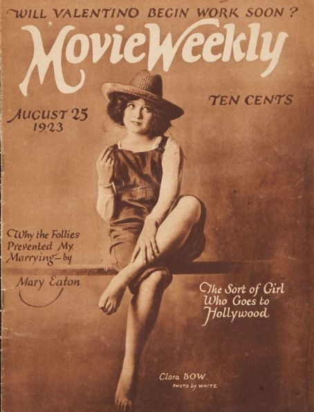 Clara Bow - Movie Weekly Magazine [United Kingdom] (25 August 1923)