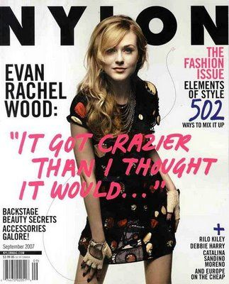 Evan Rachel Wood - Nylon Magazine [United States] (September 2007)