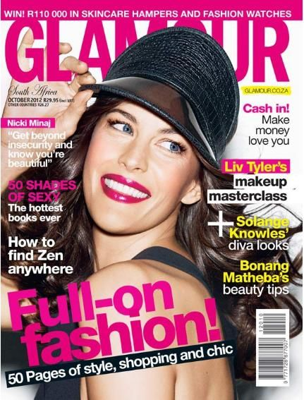 Liv Tyler - Glamour Magazine Cover [South Africa] (October 2012)