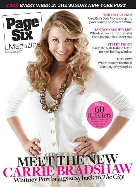 Whitney Port - Page Six Magazine [United States] (14 December 2008)