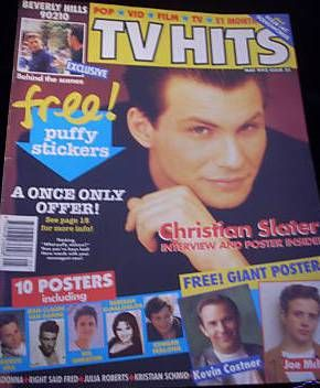 Christian Slater - TV Hits Magazine [United Kingdom] (May 1992)