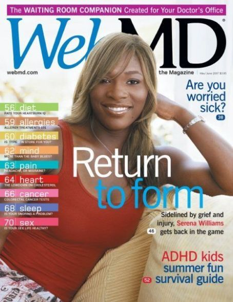 Serena Williams - WebMD Magazine [United States] (May 2007)