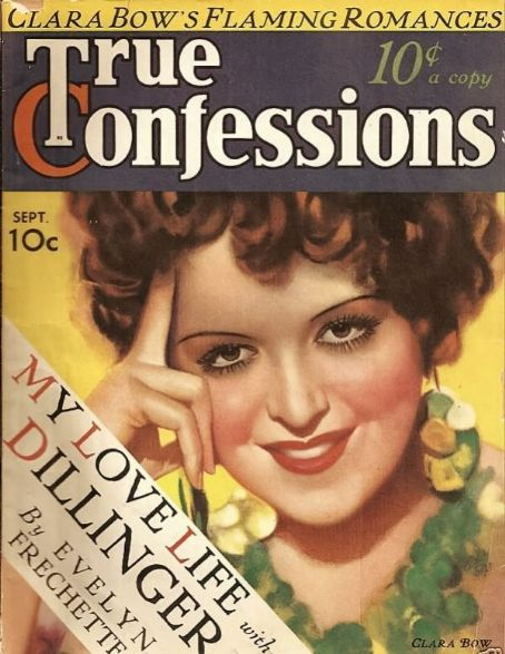 Clara Bow - True Confessions Magazine [United States] (September 1934)