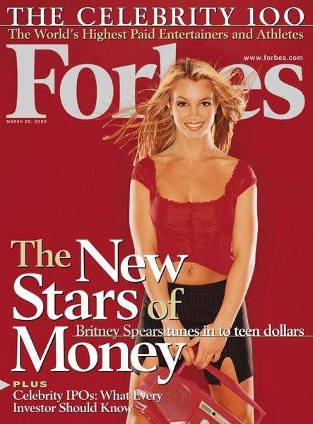 Britney Spears - Forbes Magazine [United States] (20 March 2000)
