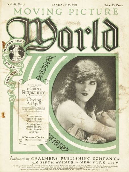 Dorothy Dickson - Moving Picture World Magazine [United States] (15 January 1921)
