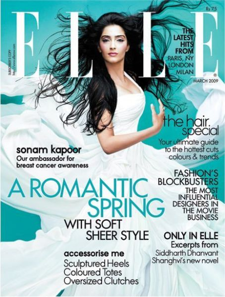 Sonam Kapoor - Elle Magazine [India] (March 2009)