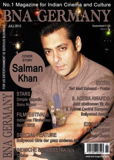 Salman Khan - Bna Germany Magazine Cover [India] (July 2012)