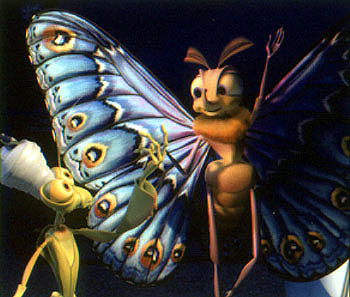 Jonathan Harris Manny () and Gypsy (Madeline Kahn) in Walt Disney's A Bug's Life - 1998