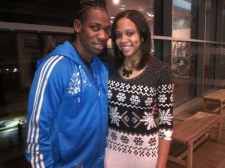 Yohan Blake Yohan with a fan