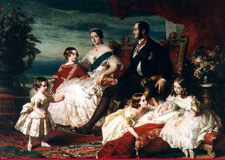 Victoria Queen  and Prince Albert with their family