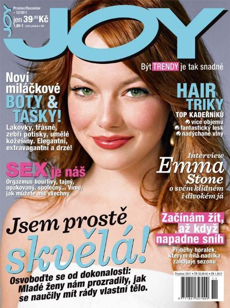 Emma Stone - Joy Magazine Cover [Czech Republic] (December 2011)