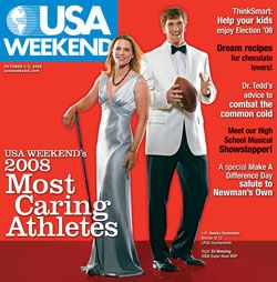 Eli Manning - USA Weekend Magazine [United States] (5 October 2008)