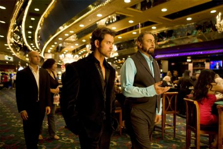 Kabir Bedi Jay (Hrithik Roshan) with Bob () in the scene of Kites