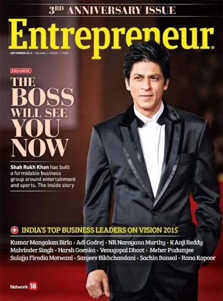 Shah Rukh Khan - Entrepreneur Magazine Pictorial [India] (September 2012)