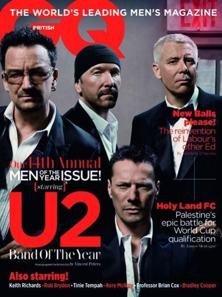 U2 - GQ Magazine Cover [United Kingdom] (2 October 2011)