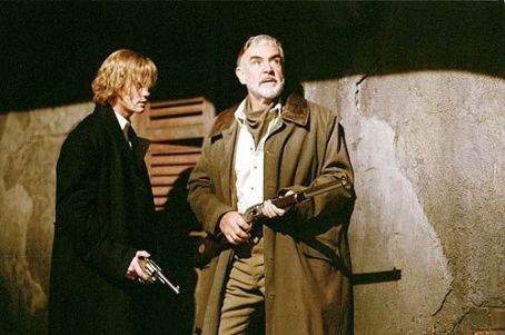 Tom Sawyer Shane West as Secret Service Agent  and Sean Connery as Allan Quartermain in 20th Century Fox's The League of Extraordinary Gentlemen - 2003