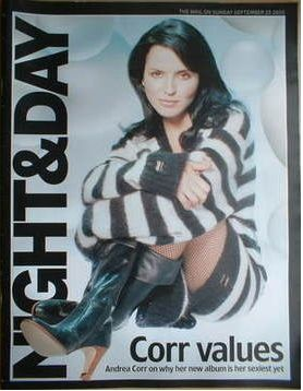 Andrea Corr - Night & Day Magazine Cover [United Kingdom] (25 September 2005)