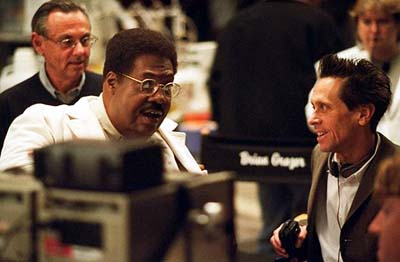 Brian Grazer Eddie Murphy and producer  on the set of Universal's Nutty Professor II: The Klumps - 2000