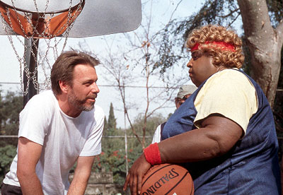 Raja Gosnell Director  and Martin Lawrence on the set of 20th Century Fox's Big Momma's House - 2000