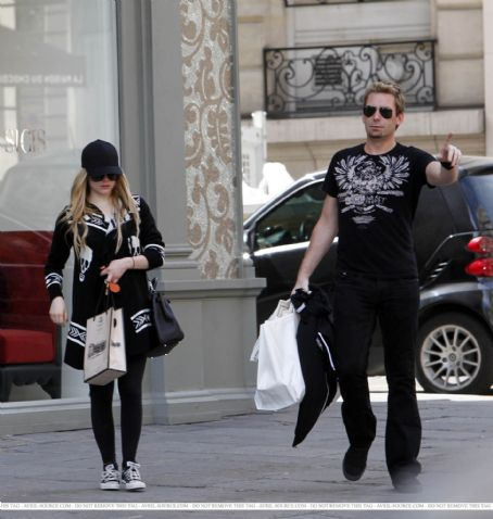 Avril Lavigne and Chad Kroeger, Paris 10/05/2012