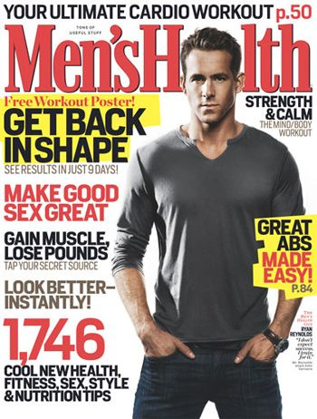 Health Ryan Reynolds on Ryan Reynolds  Men S Health Magazine March 2009 Cover Photo   United