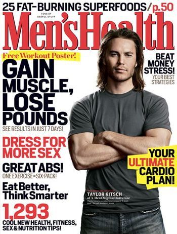 Taylor Kitsch - Men's Health Magazine [United States] (April 2009)