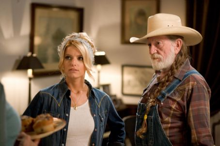 Daisy Duke JESSICA SIMPSON as  and WILLIE NELSON as Uncle Jesse in Warner Bros. Pictures' and Village Roadshow Pictures' action comedy 'The Dukes of Hazzard,' also starring Johnny Knoxville and Seann William Scott and distributed by Warner