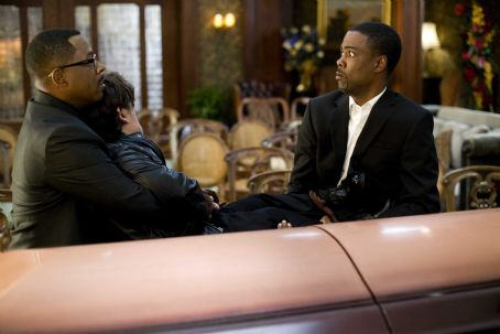 Death at a Funeral - (l to r) Martin Lawrence, Peter Dinklage and Chris Rock star in Screen Gems' comedy DEATH AT A FUNERAL. Photo By: Phil Bray. © 2010 Screen Gems, Inc. All rights reserved.