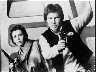 Princess Leia Carrie Fisher and Harrison Ford in Star Wars: Episode VI - Return of the Jedi (1983)