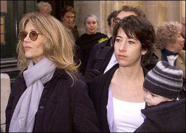 Vanessa Vadim Jane Fonda at Roger Vadim's funeral