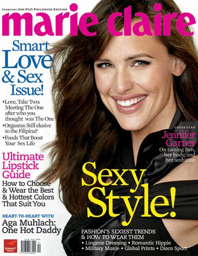 Jennifer Garner - Marie Claire Magazine [Philippines] (February 2008)