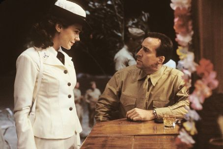 Frances O'Connor Frances O'Connor and Nicolas Cage in MGM's Windtalkers - 2002