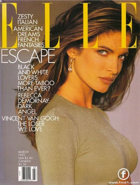 Stephanie Seymour - Elle Magazine Cover [Canada] (March 1992)