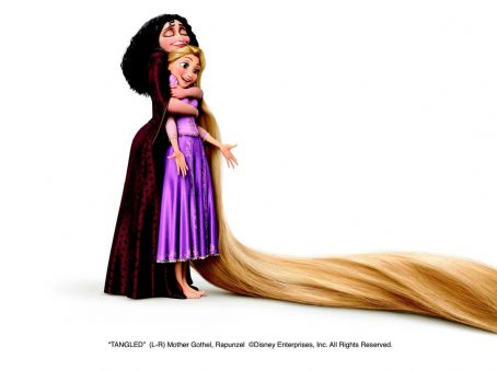 (L-R) Mother Gothel (Donna Murphy), Rapunzel (Mandy Moore). ©Disney Enterprises, Inc. All Rights Reserved.