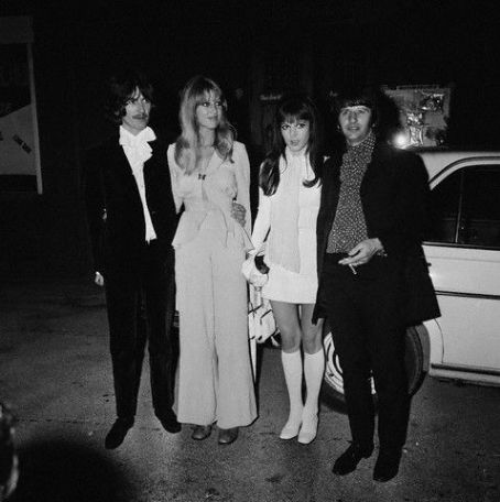 Maureen Starkey - George Harrison and Pattie Boyd with Ringo Starr and wife Maureen