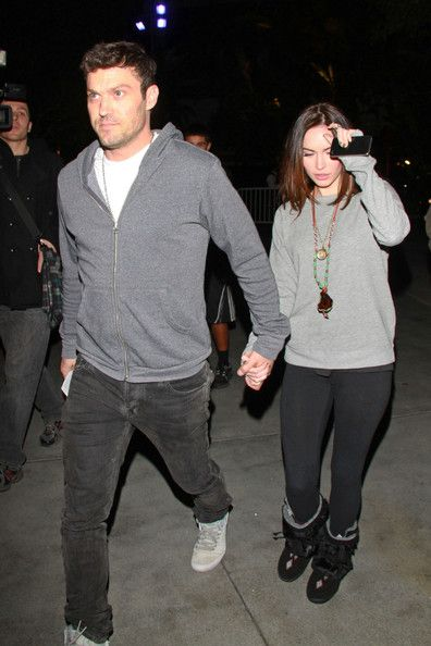 Megan Fox and her husband Brian Austin Green arrive at the Staples Center in Downtown Los Angeles