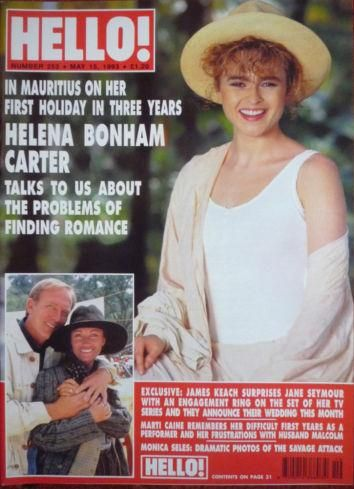 Helena Bonham Carter - Hello! Magazine Cover [United Kingdom] (15 May 1993)