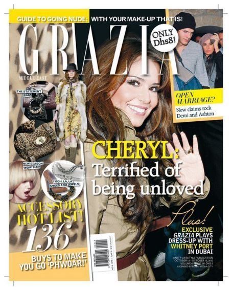 Cheryl Cole - Grazia Magazine Cover [Iran] (13 October 2010)