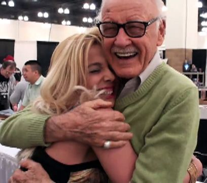Stan Lee Sweet Hug Between  And Sabrina A. Parisi