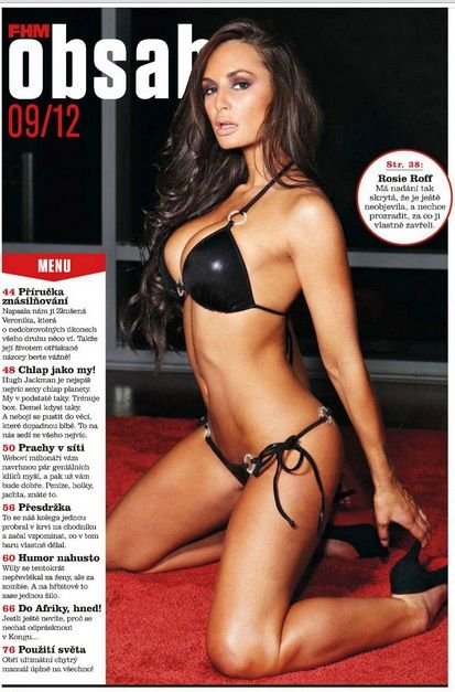 Rosie Roff  - FHM Magazine Pictorial [Czech Republic] (September 2012)