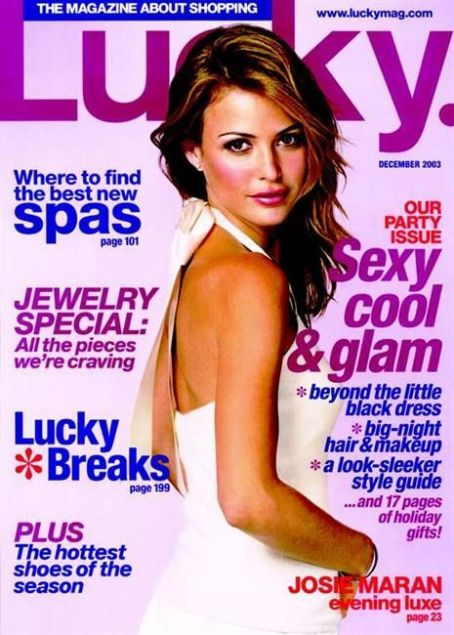 Josie Maran - Lucky Magazine [United States] (December 2003)