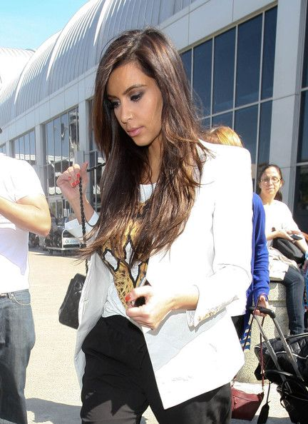 Kim Kardashian was seen arriving at LAX after departing New York earlier in the day on April 6, 2012
