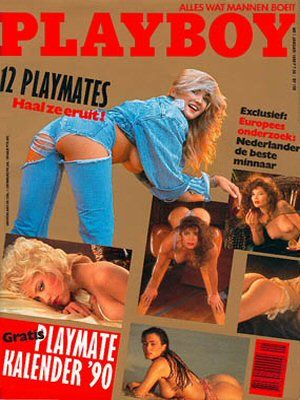 , Tawni Cable, Fawna MacLaren, Erika Eleniak, Unknown - Playboy Magazine Cover [Netherlands] (January 1990)